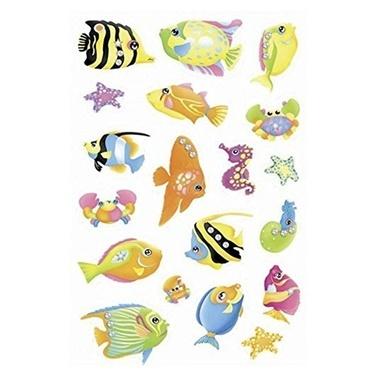 Herma Çocuk Etiketleri Balıklar Kristal Renkli